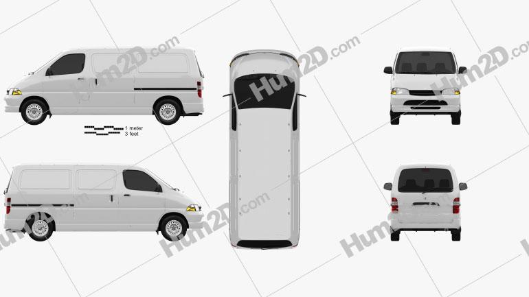 Toyota Hiace Panel Van 1995 clipart