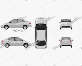 Toyota Prius 2000 car clipart
