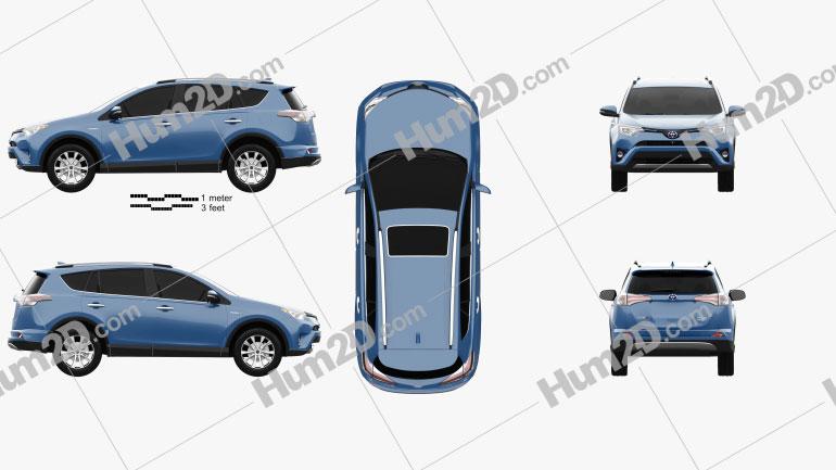 Toyota RAV4 Hybrid 2016 car clipart