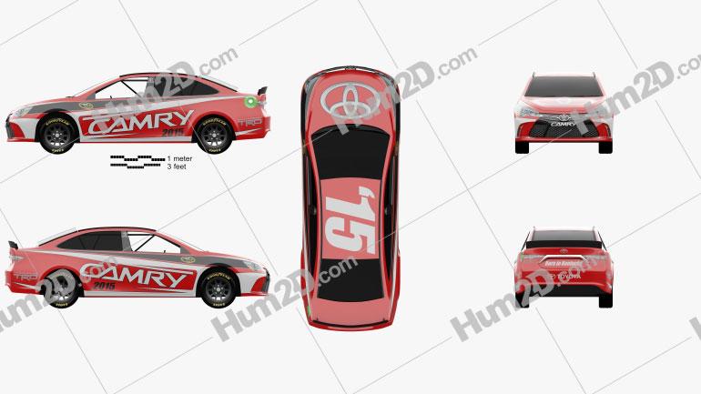 Toyota Camry NASCAR 2015 car clipart