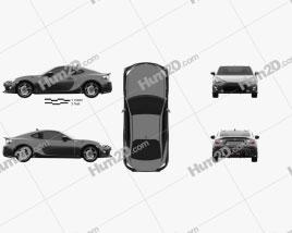Toyota 86 GT VTX 2013 car clipart