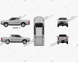 Toyota Hilux Double Cab Hi Rider 2015 car clipart