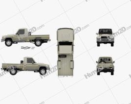 Toyota Land Cruiser Single Cab Pickup VXR 2007 car clipart