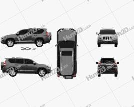 Toyota Land Cruiser Prado VXR 2016 car clipart
