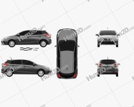Toyota Yaris SE plus 2016 car clipart