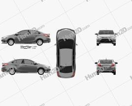 Toyota Yaris SE plus Sport sedan 2014 car clipart