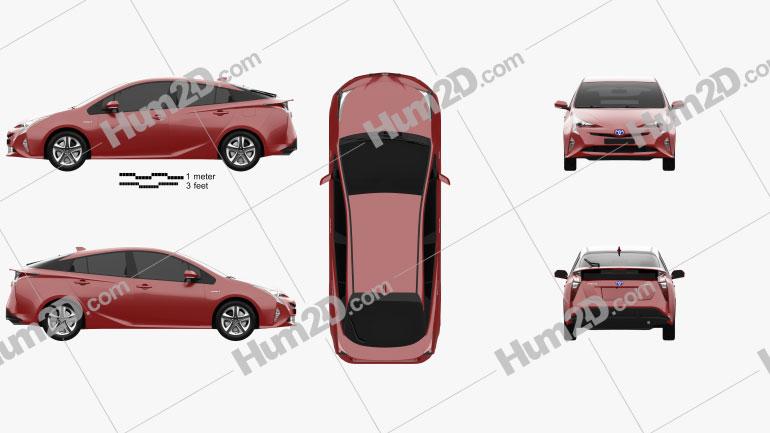 Toyota Prius 2016 car clipart