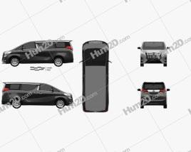 Toyota Alphard (CIS) 2015 clipart