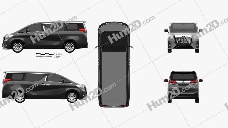 Toyota Alphard (CIS) 2015 Clipart Image