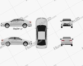 Toyota Camry Elegance Plus (CIS) 2014 car clipart