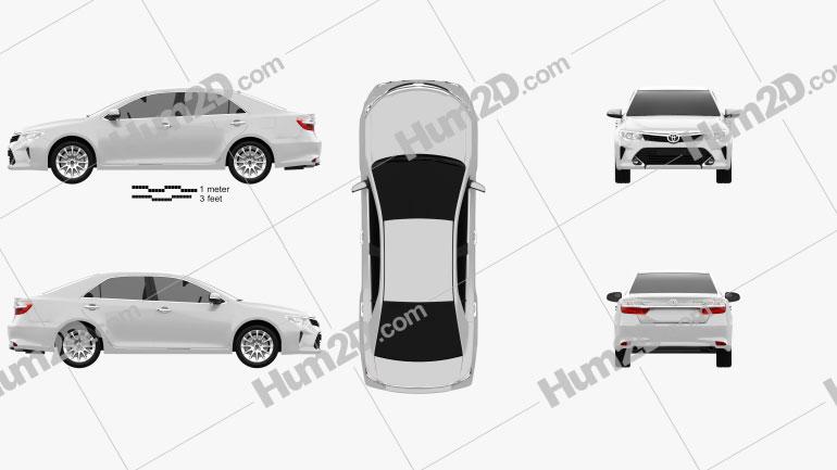 Toyota Camry Elegance Plus (CIS) 2014 Clipart Image