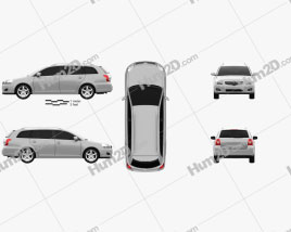 Toyota Avensis wagon 2006 car clipart