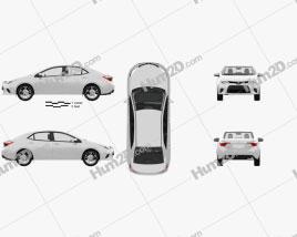Toyota Corolla LE Eco (US) with HQ interior 2013