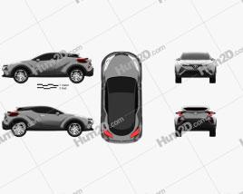 Toyota C-HR Conceito 2016 car clipart