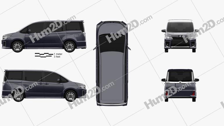 Toyota Voxy ZS 2014 clipart