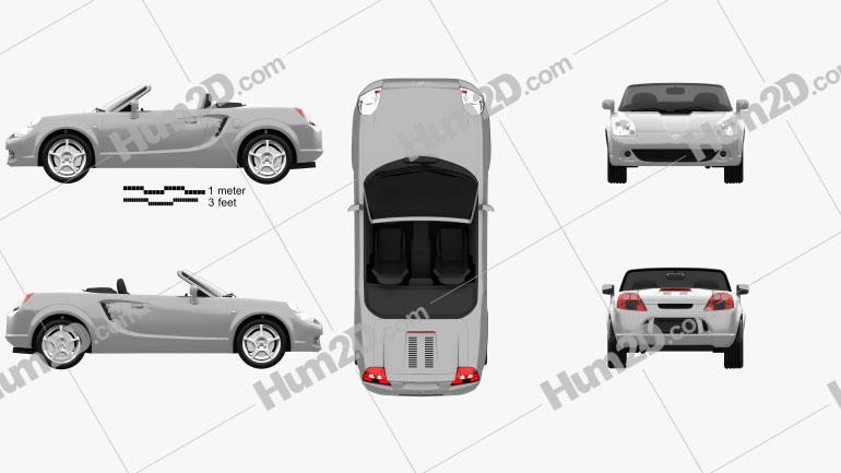 Toyota MR2 Roadster 1999 car clipart