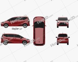 Toyota Sienta 2016 clipart