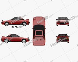 Toyota MR2 1984 car clipart