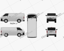 Toyota HiAce SWB Furgão 2013 clipart
