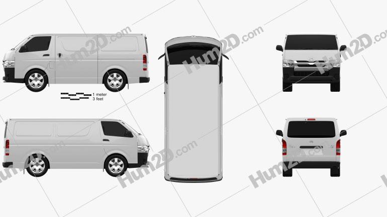 Toyota HiAce SWB Panel Van 2013 clipart
