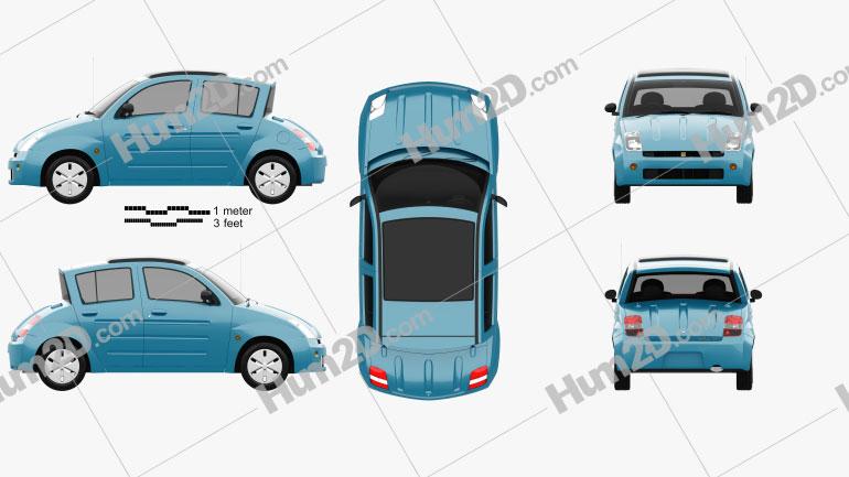 Toyota WiLL Vi Canvas Top 2000 car clipart