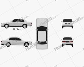 Toyota Crown 1991 car clipart