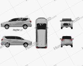 Toyota Innova 2016 clipart