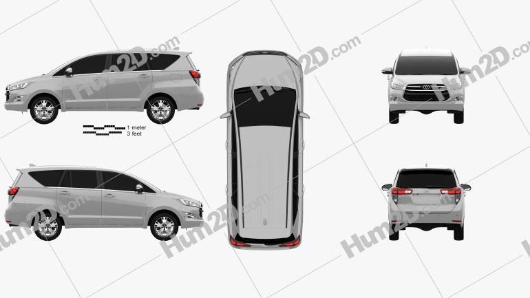 Toyota Innova 2016 Clipart Image