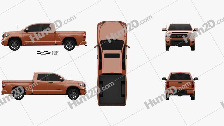 Toyota Tundra Double Cab TRD Pro 2014 car clipart