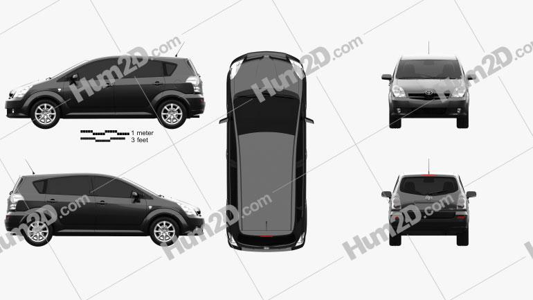 Toyota Corolla Verso 2004 clipart