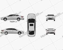 Toyota Avalon Limited 2015 car clipart