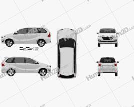 Toyota Avanza SE 2015 clipart