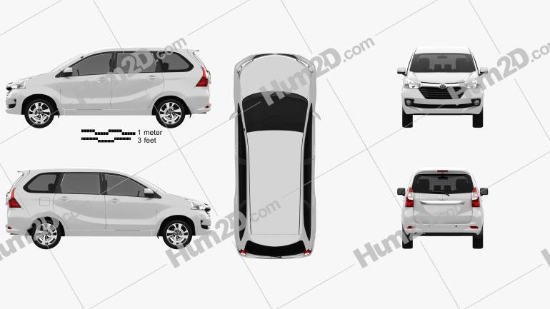 Toyota Avanza SE 2015 Clipart Image