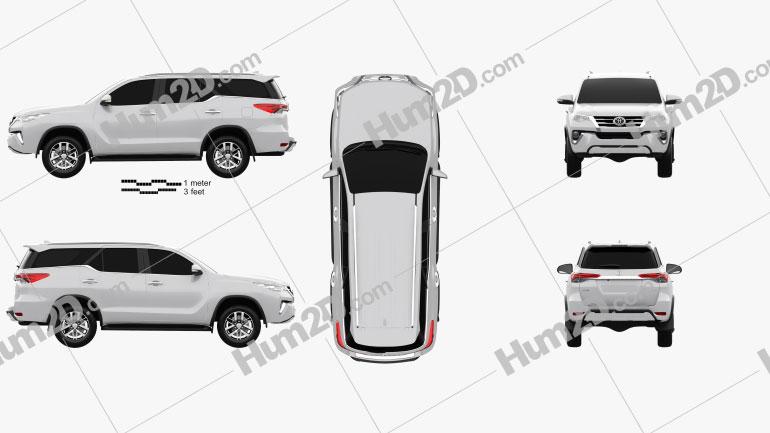 Toyota Fortuner VXR 2016 car clipart