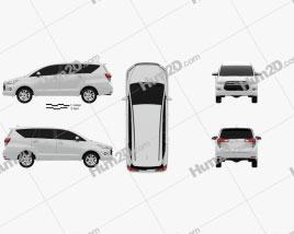 Toyota Innova G 2016 clipart