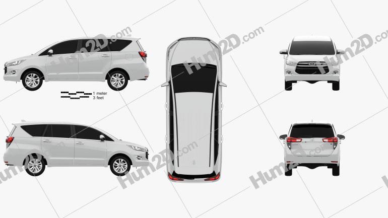 Toyota Innova G 2016 Clipart Image
