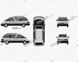 Toyota Previa 1990 Clipart
