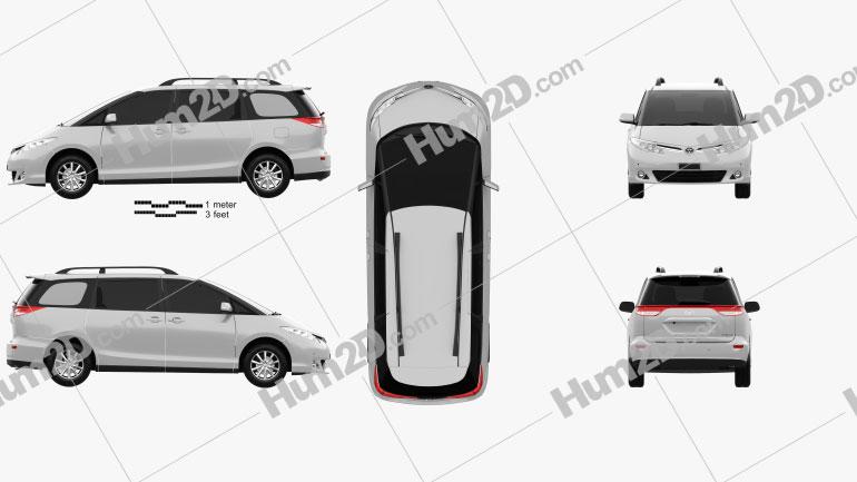 Toyota Previa SE 2016 clipart