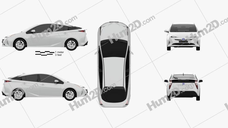 Toyota Prius Iconic 2016 car clipart