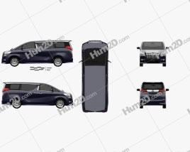 Toyota Alphard 2015 clipart
