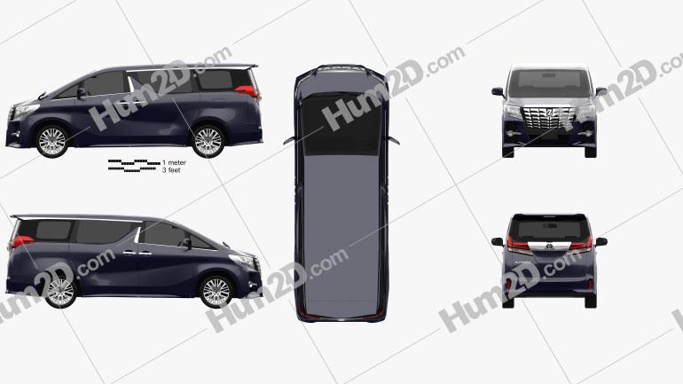 Toyota Alphard 2015 Clipart Bild