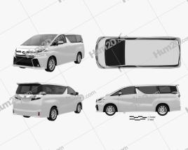 Toyota Vellfire Aero 2015 clipart