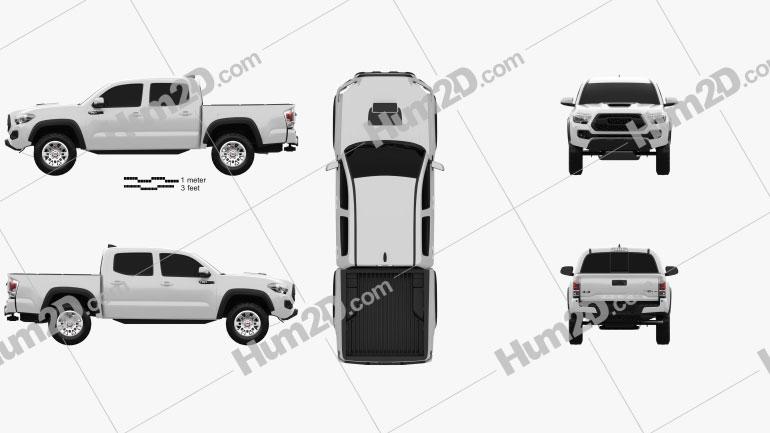 Toyota Tacoma Double Cab TRD Pro 2017 car clipart