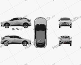 Toyota C-HR 2017 car clipart