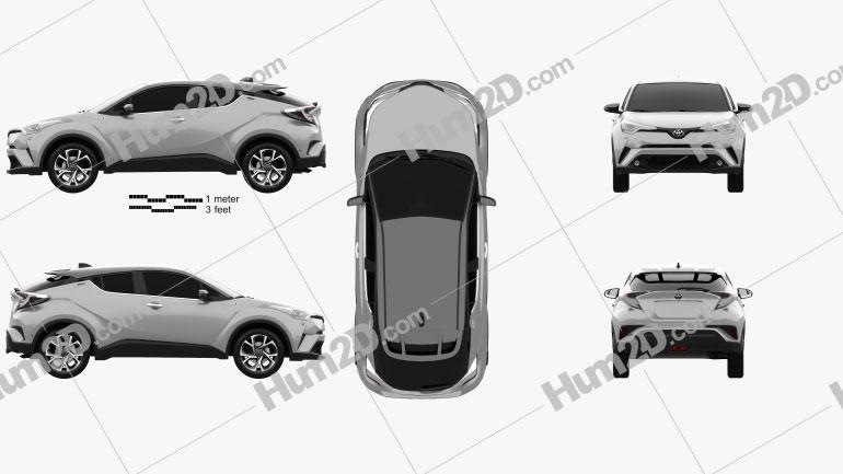 Toyota C-HR 2017 Clipart Image