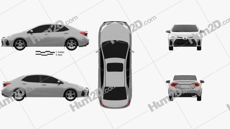 Toyota Corolla SE (US) 2013 car clipart
