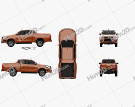 Toyota Hilux Double Cab Revo TRD Sportivo 2016 car clipart