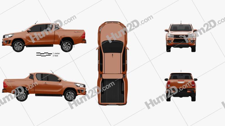 Toyota Hilux Double Cab Revo TRD Sportivo 2016 Clipart Image