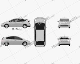 Toyota Prius base 2003 Clipart