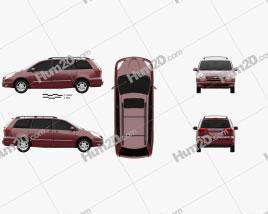 Toyota Sienna CE 2004 clipart